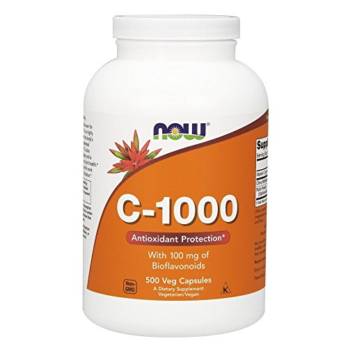 Now Foods Supplements, Vitamin C-1,000 with 100 mg of Bioflavonoids, Antioxidant Protection*, 500 Veg Capsules