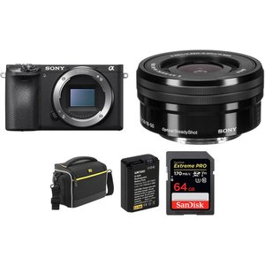 B&H: Sony a6500 + 16-50mm Lens with Free Accessory Kit