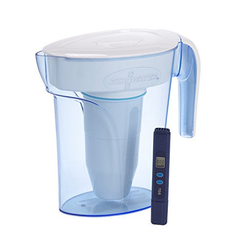 ZeroWater ZP-006-4, 6 Cup Water Filter Pitcher with Water Quality Meter