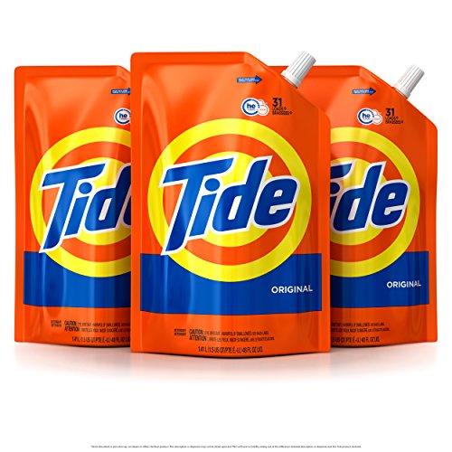 Tide HE 洗衣液,每包 48 OZ,共3包