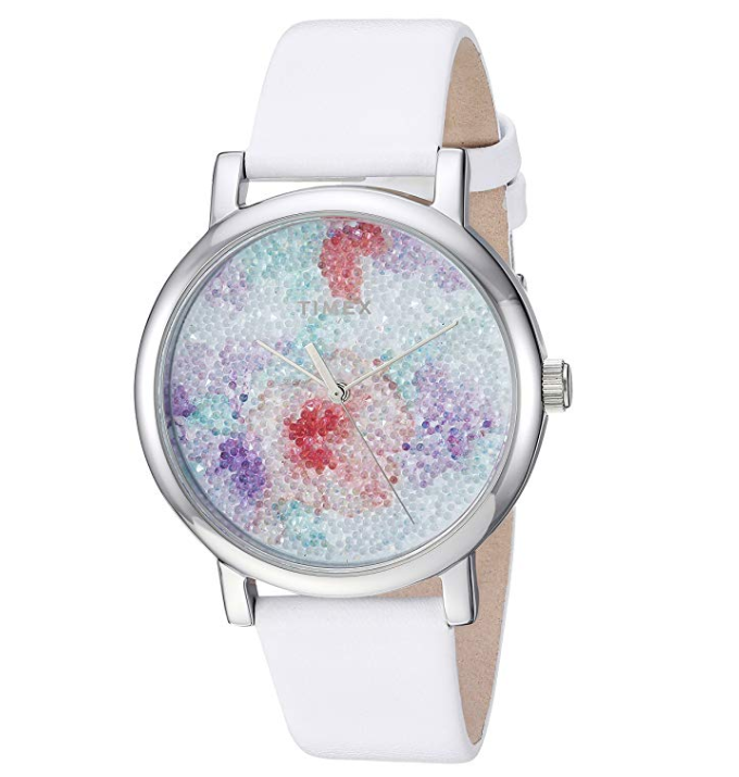Timex Women's Crystal Bloom Swarovski Fabric Dial 38mm Watch