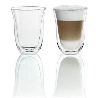 史低价!DeLonghi 双壁隔热拿铁玻璃杯,7.5 oz,2个装