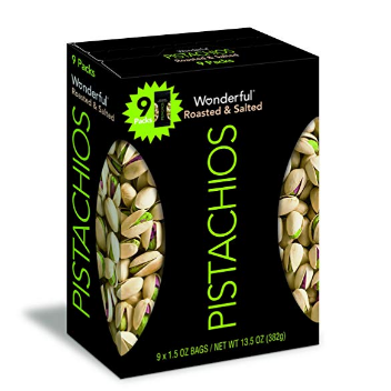 Wonderful Pistachios 盐烤开心果 1.5oz, 9小包