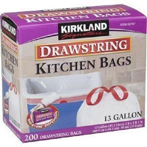 速抢!Kirkland 厨房用垃圾袋200只,13加仑款