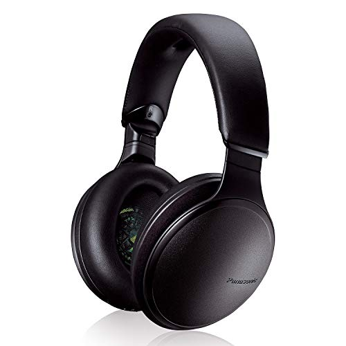 Panasonic Noise Cancelling Over The Ear Headphones with Wireless Bluetooth, Alexa Voice Control & Other Assistants - Black (RP-HD805N-K)