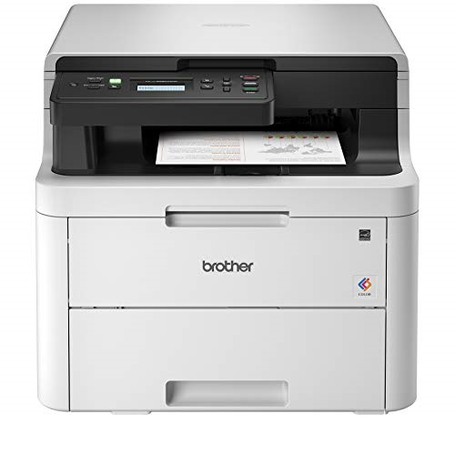 Brother HL-L3290CDW Compact Digital Color Printer Providing Laser Printer Quality Results with Convenient Flatbed Copy & Scan, Wireless Printing and Duplex Printing,