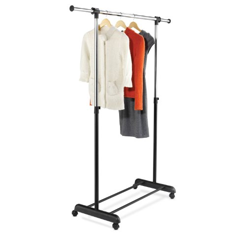 Honey-Can-Do GAR-01124 Expandable Garment Rack, Chrome/Black