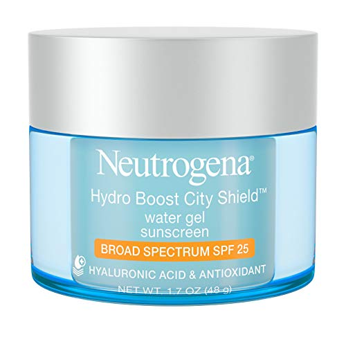 Neutrogena Hydro Boost City Shield Water Gel with Hydrating Hyaluronic Acid, Antioxidants, and Broad Spectrum SPF 25 Sunscreen,, 1.7 oz