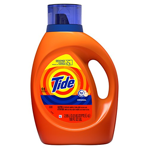Tide HE Turbo Clean Liquid Laundry Detergent, Original Scent, Single 100 oz