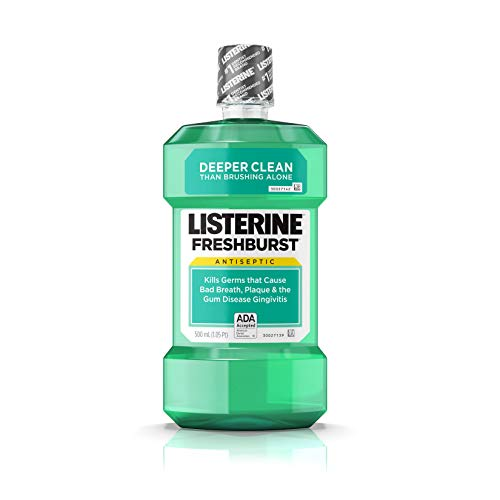 Listerine Freshburst Antiseptic Mouthwash with Germ-Killing Oral Care Formula to Fight Bad Breath, Plaque and Gingivitis, 500 mL
