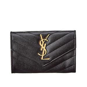 Saint Laurent Small Matelasse Leather Envelope Wallet