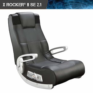 Amazon: Ace Bayou X Rocker II SE 2.1 Black Leather Floor Video Gaming Chair