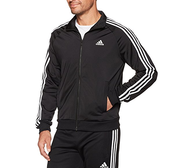 adidas Men's Essentials 3-Stripe Tricot Track Jacket