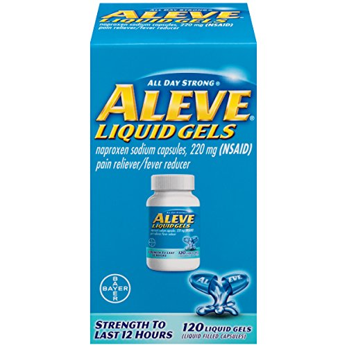 Aleve Liquid Gels with Naproxen Sodium, 220mg (NSAID) Pain Reliever/Fever Reducer, 120 Count