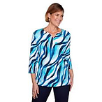 Plus Size Alfred Dunner Easy Street Waves Tee