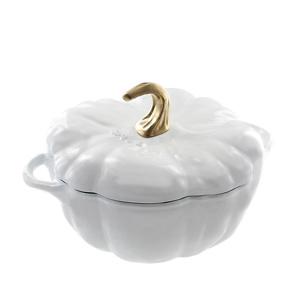 Staub White 3.5 Qt. Pumpkin Cocotte