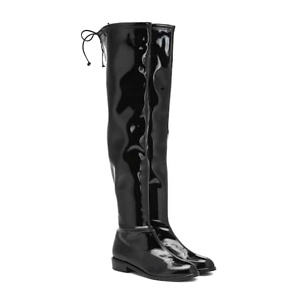 STUART WEITZMAN Lowland vinyl over-the-knee boots