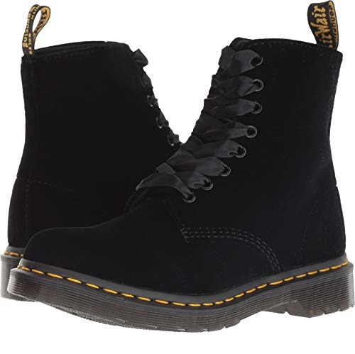 Dr. Martens 女士1460 Pascal 8孔丝绒马丁靴