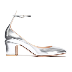 VALENTINO GARAVANI Metallic leather pumps
