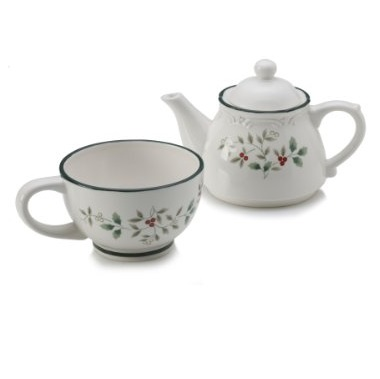 Pfaltzgraff Winterberry Tea for One Teapot Set - 5098861