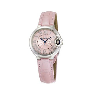 Cartier Ballon Bleu Automatic Pink Dial Ladies Watch WSBB0002