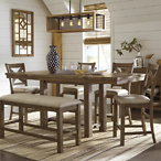 Moriville 6-Piece Counter Height Dining Room