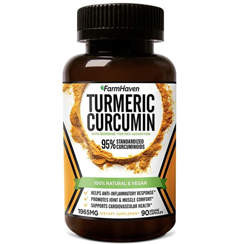 FarmHaven: Turmeric Curcumin with BioPerine Black Pepper & 95% Curcuminoids, 1965mg, Non-GMO Turmeric Capsules, discounted price