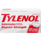 Tylenol Regular Strength Tablets with 325 mg Acetaminophen, 100 ct