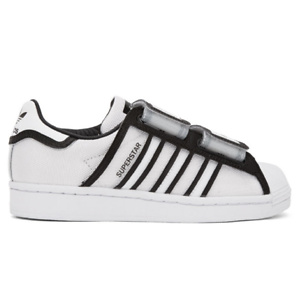 adidas Originals  White & Black Ji Won Choi & Olivia Blanc Edition Fashion Designer Series Superstar Sneakers