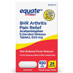 Equate Acetaminophen Extended-Release Tablets, 650 mg, Arthritis Pain, 24 Count