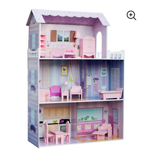 "Teamson Kids - Dreamland Tiffany 12"" Doll House -""Pink"