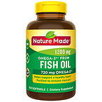 Nature Made Omega-3 from Fish Oil 1200 mg Softgels N/A, 1 Softgel 100.0ea