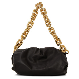 Bottega Veneta  Black 'The Chain Pouch' Clutch