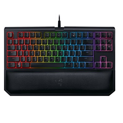Razer BLACKWIDOW TE Chroma V2 Mechanical Gaming Keyboard: Green Key Switches - Tactile & Clicky - Chroma RGB Lighting - Magnetic Wrist Rest - Programmable Macro Functionality