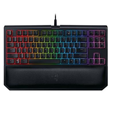 史低价! Razer BLACKWIDOW 黑寡妇 TE Chroma V2 绿轴 机械键盘