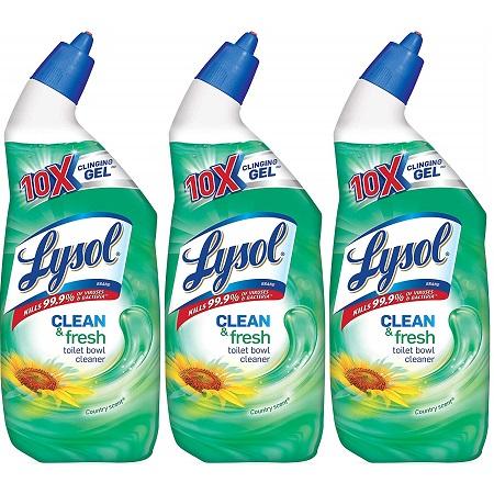 史低价!Lysol 强效清新马桶清洁剂,3瓶装