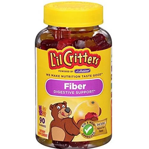助宝宝消化!L'il Critters 小熊纤维素软糖,90粒