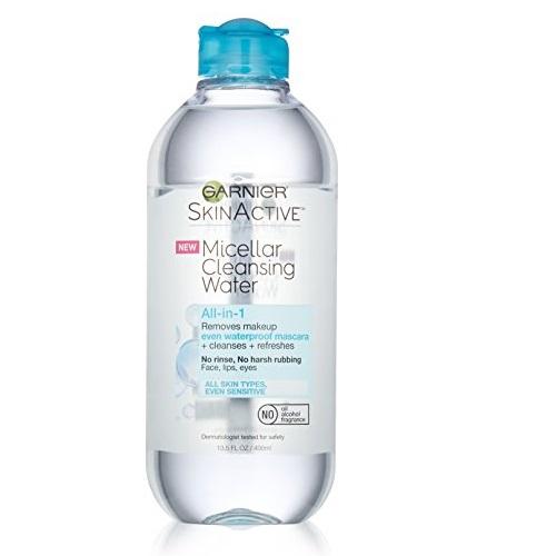 Garnier SkinActive Micellar Cleansing Water All-in-1 Cleanser & Waterproof Makeup Remover, 13.5 Fluid Ounce