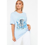 Blue Wild And Free Oversized T-Shirt