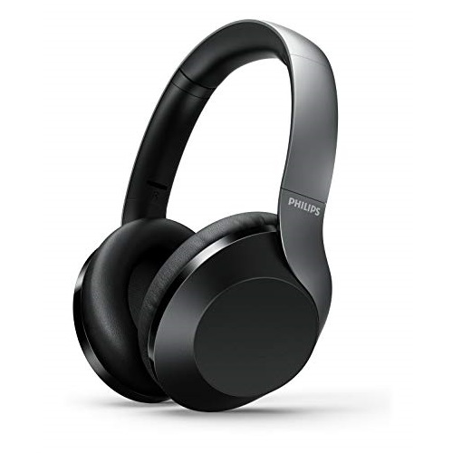 Philips Audio Philips Performance PH802BK Wireless Headphones with Hi-Res Audio, up to 30 Hours Playtime with Rapid Charge, Black
