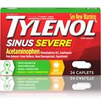 Tylenol Sinus Severe Non-Drowsy Day Cold & Flu Relief Caplets, 24 ct