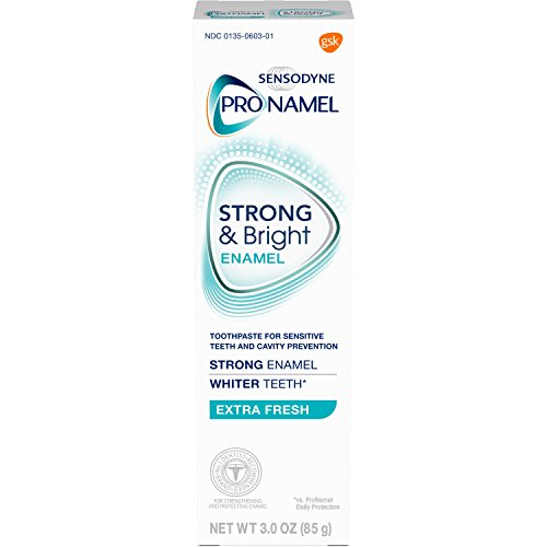 SENSODYNE PRONAMEL Strong & Bright, Whitening Enamel Toothpaste, Extra Fresh, 3 ounce