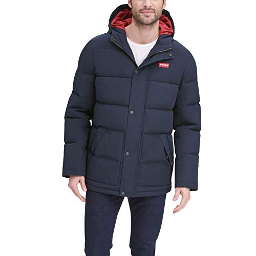 Levi's Men's Arctic Cloth Mid-Length Quilted Puffer City Parka Jacket