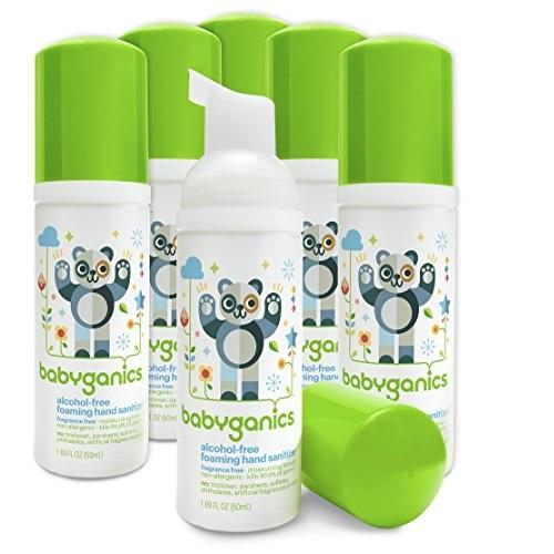 补货了!BabyGanics甘尼克宝贝 纯天然泡沫宝宝 免洗 洗手液,50ml/罐,共6罐