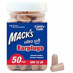 Mack's 耳朵护理超软泡沫耳塞