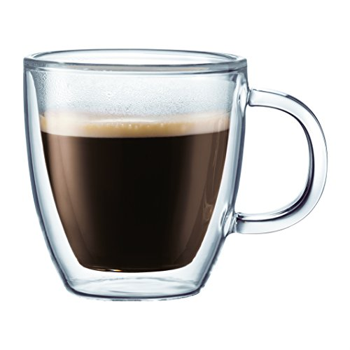 Bodum 10604-10-6US Bistro Coffee Mug, 10 Ounce (6-Pack), Clear