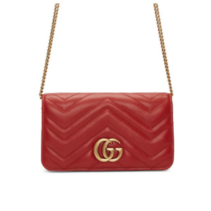 Gucci  Red Quilted Marmont 2.0 Bag