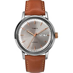 Marlin® Automatic Day-Date 40mm Leather Strap Watch