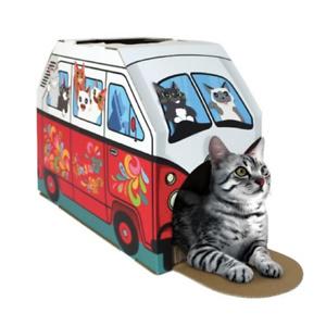 Festive Cat House and Cat Scratcher with Catnip