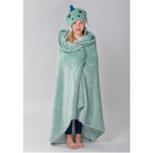 Dinosaur Hooded Throw for Kids by Down Home